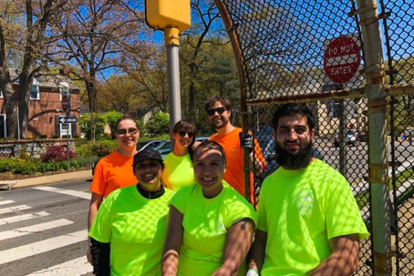 DLS Adopt a highway cleanup