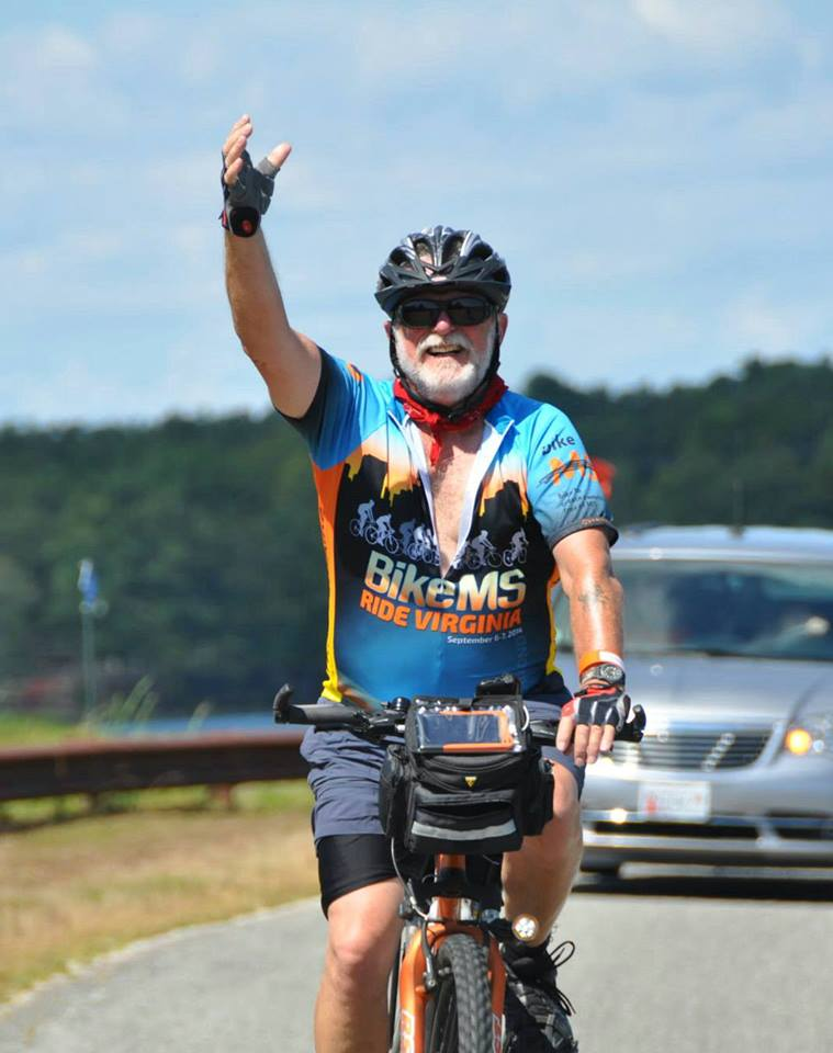 DLS staff member, Doug, during the National Multiple Sclerosis Society Bike Ride