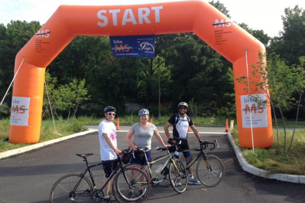 Diplomatic Language Services news post on the National Multiple Sclerosis Bike Ride 2016