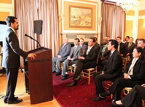 DLS AFPAK Hands students visit Washington, D.C.'s Afghan embassy